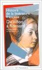 Histoire de la litterature française - de villon a ronsard