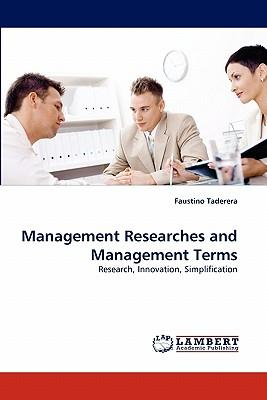 Management Researches and Management Terms