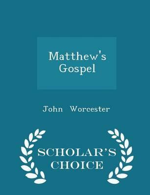 Matthew's Gospel - S...