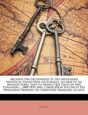 Archives Des Découvertes Et Des Inventions Nouvelles