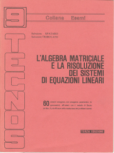 L' algebra matriciale e la risoluzione dei sistemi di equazioni lineari