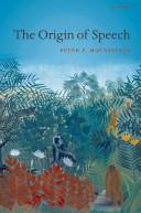The Origin of Speech