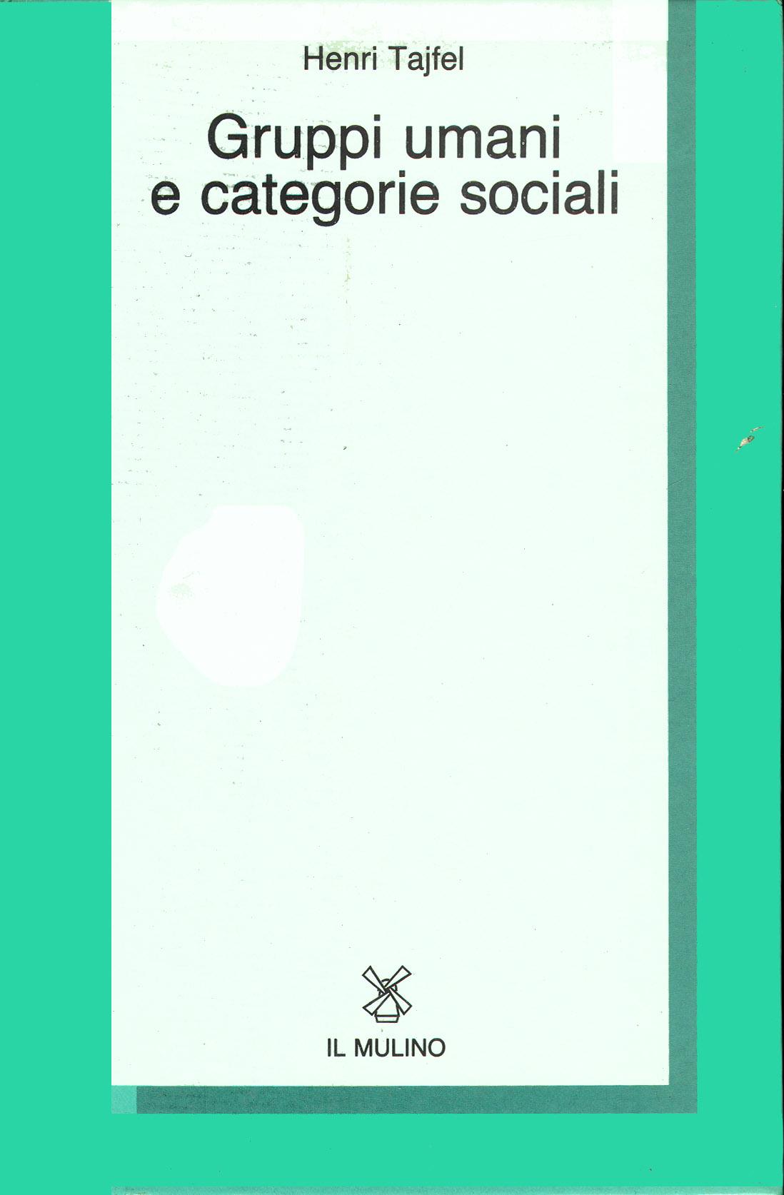 Gruppi umani e categorie sociali