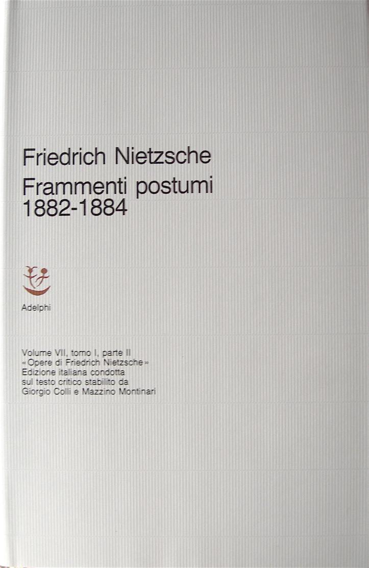 Frammenti postumi 1882-1884 (Parte II)