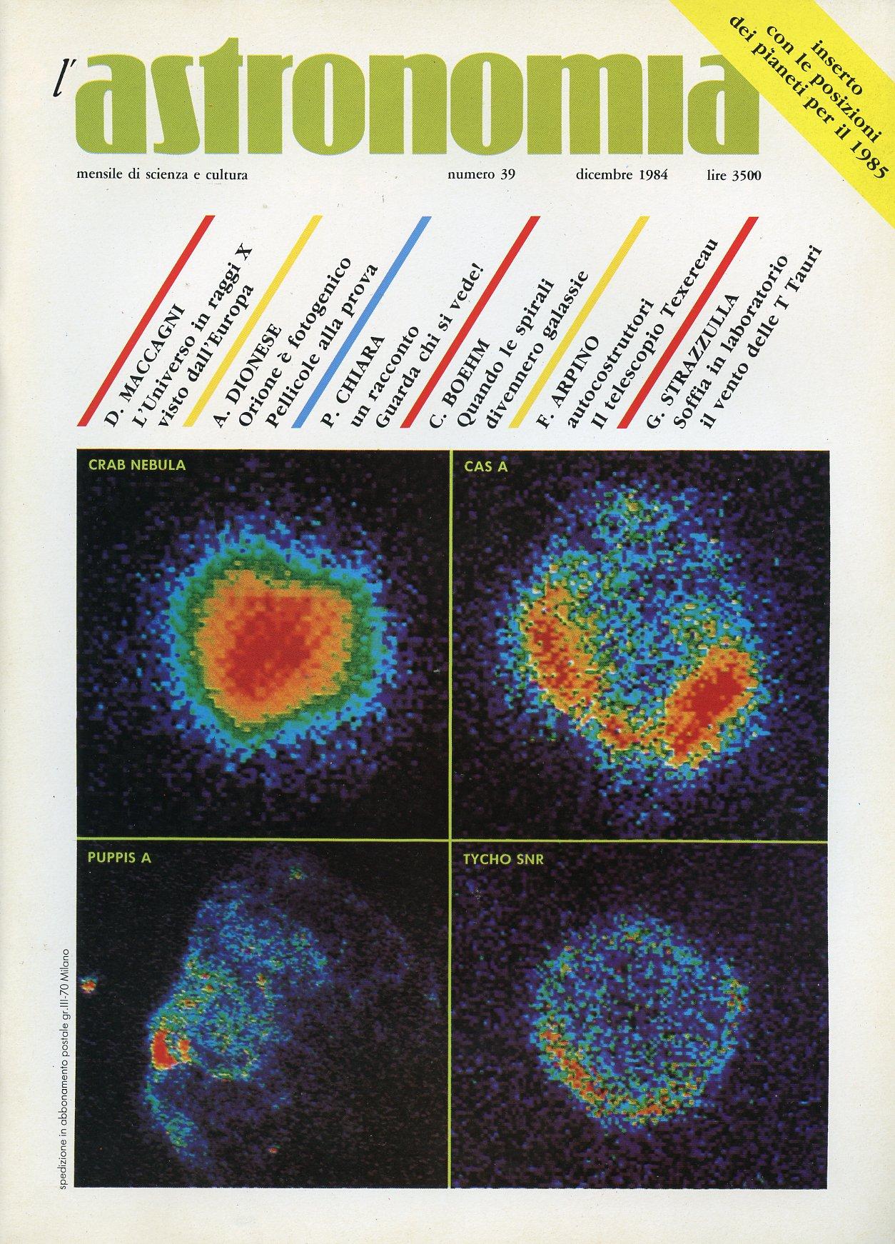 L'Astronomia, Anno V...