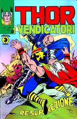 Thor e i Vendicatori (Il Mitico Thor) n. 106