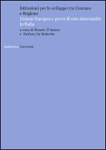 Istituzioni per lo sviluppo tra Comune e Regione