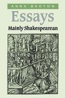 Essays, mainly Shake...
