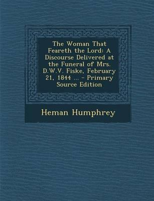 The Woman That Feareth the Lord