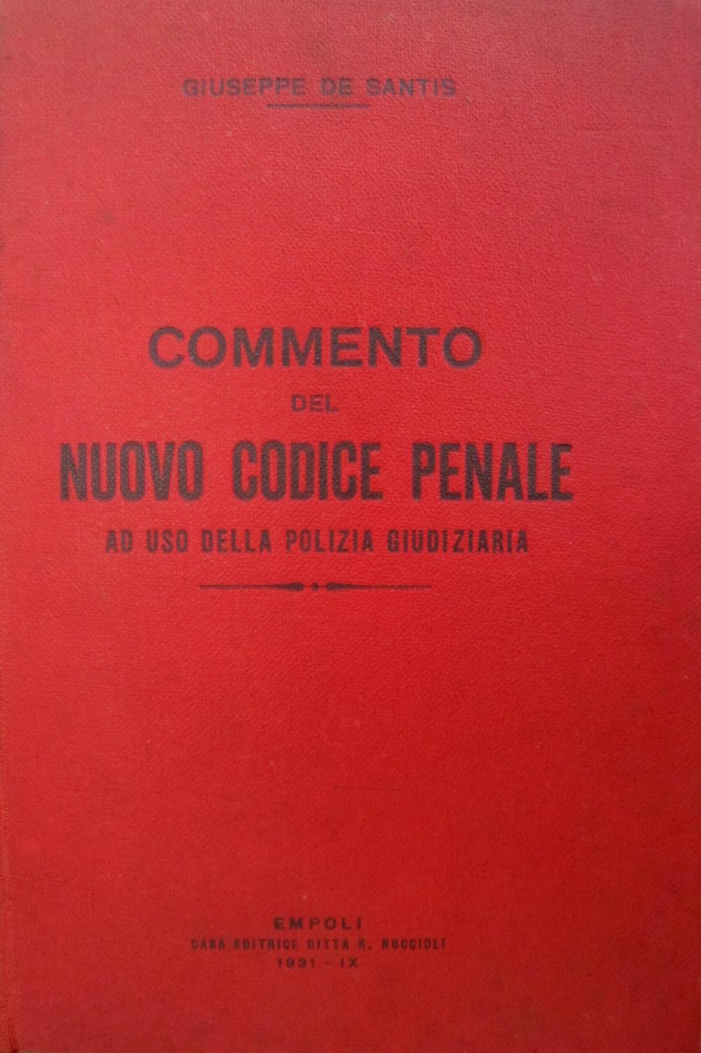Commento del Nuovo Codice Penale