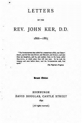 Letters of the Rev. John Ker, D.d.
