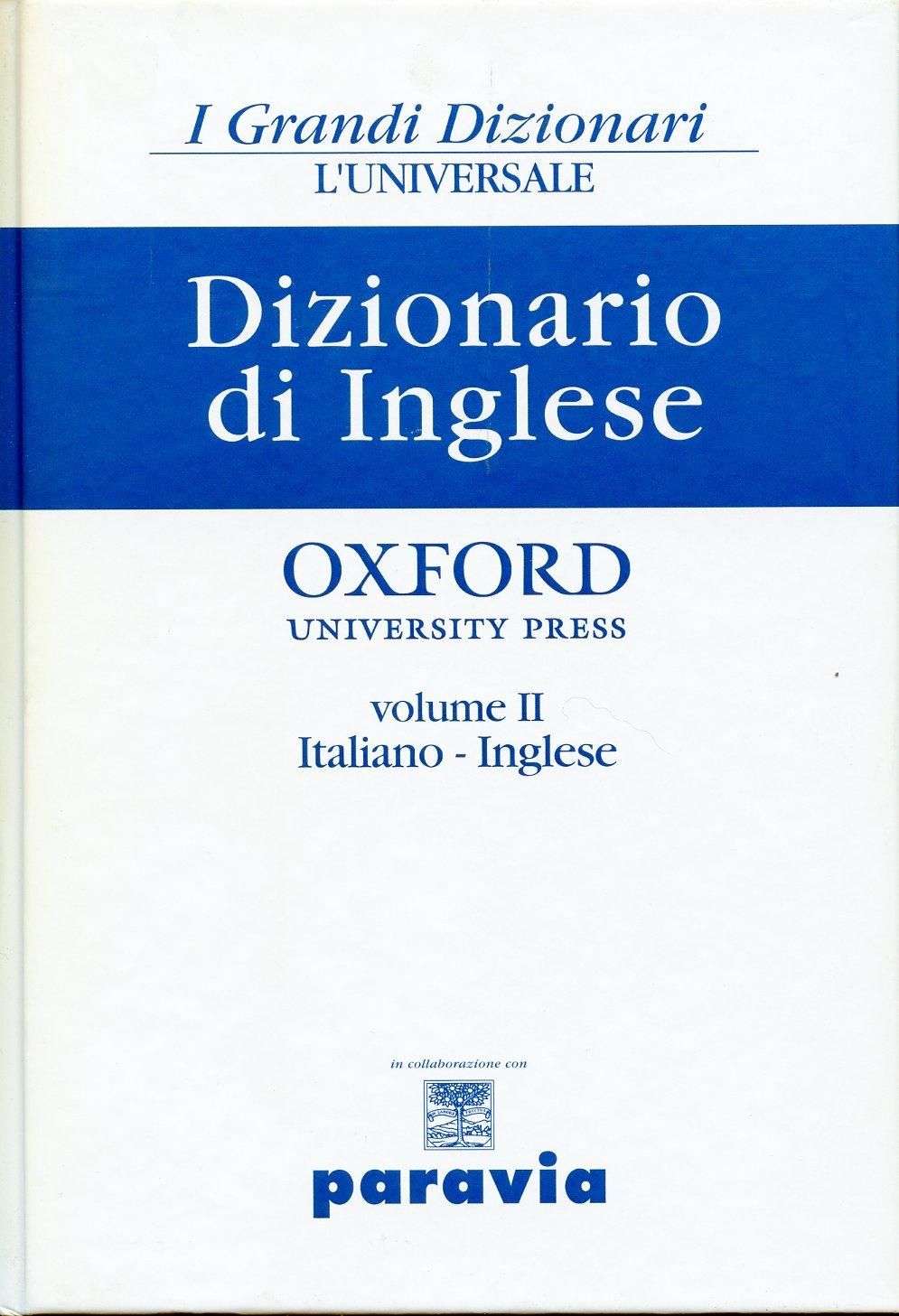 Dizionario di Inglese - vol. 2