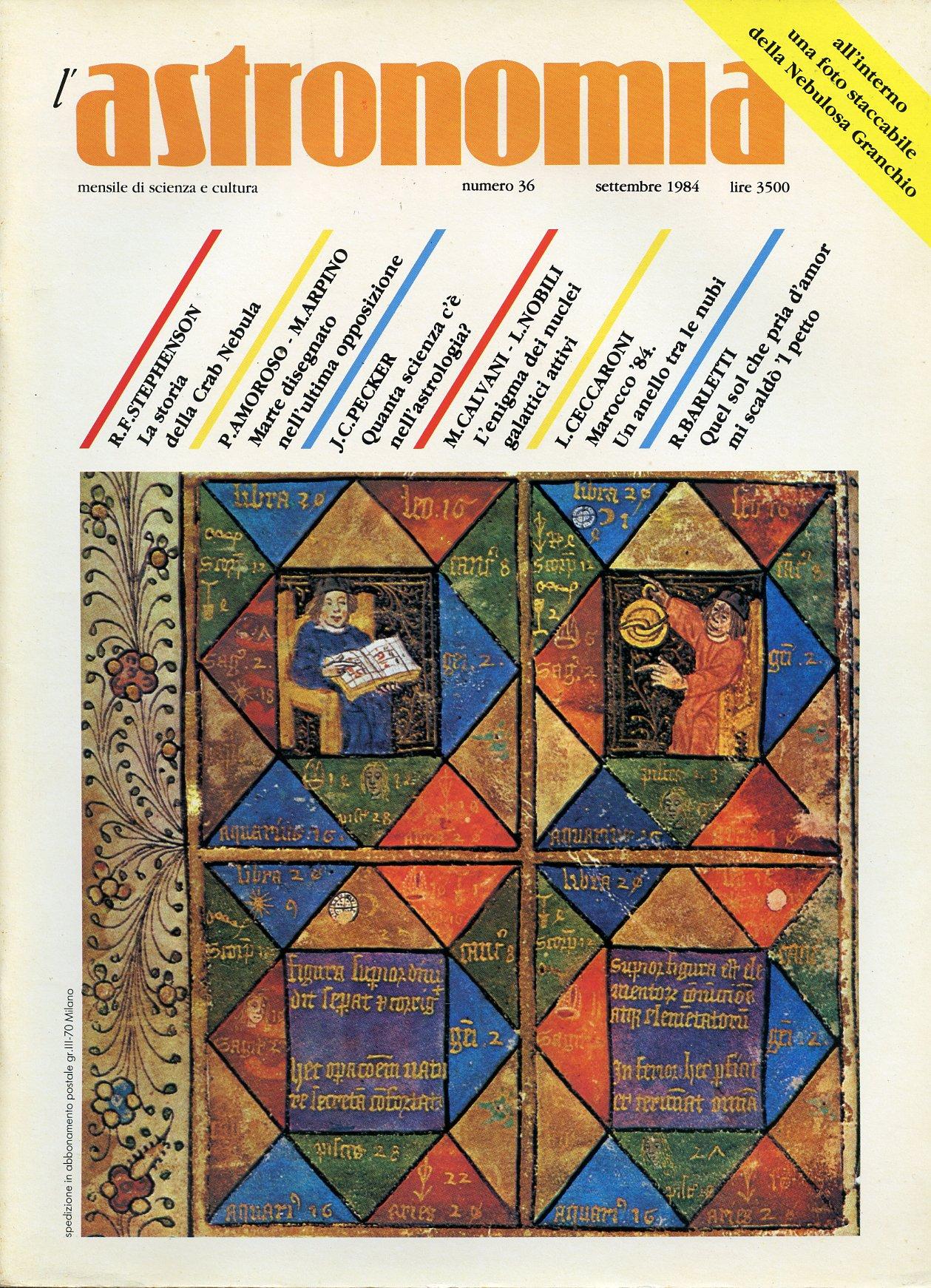 L'Astronomia, Anno VI, n.36