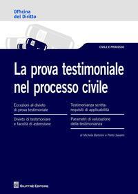 La prova testimoniale nel processo civile
