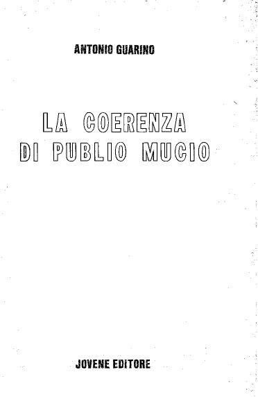 La coerenza di Publi...