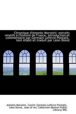 Chronique D'Antonio Morosini