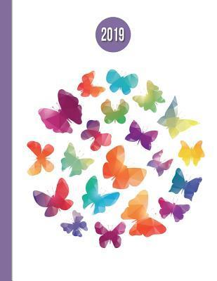 2019 Planner; Rainbow Butterflies