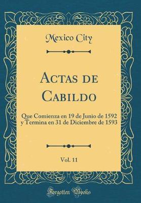 Actas de Cabildo, Vol. 11