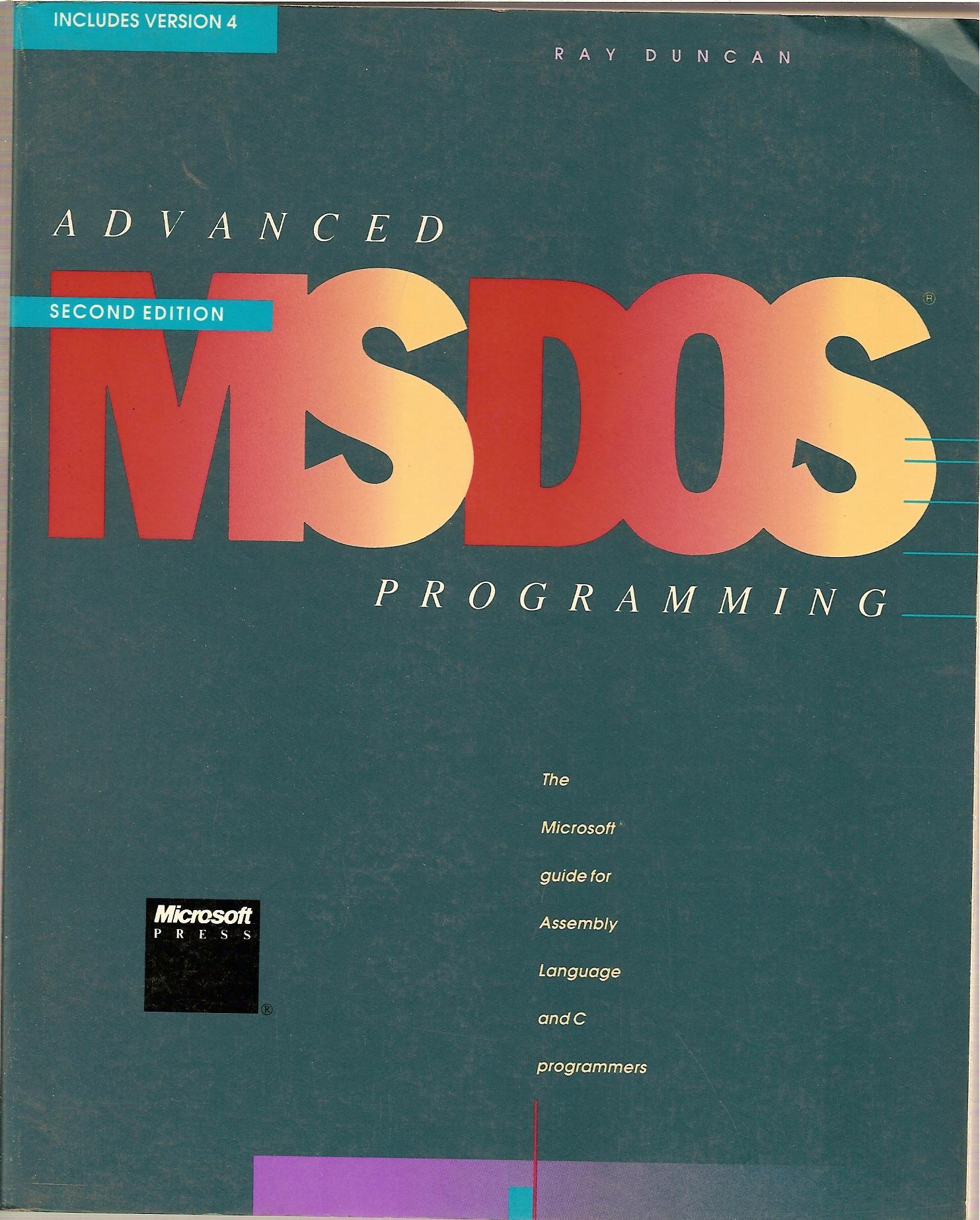 Advanced MS-DOS Programming