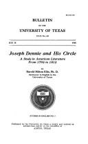 Joseph Dennie and his circle