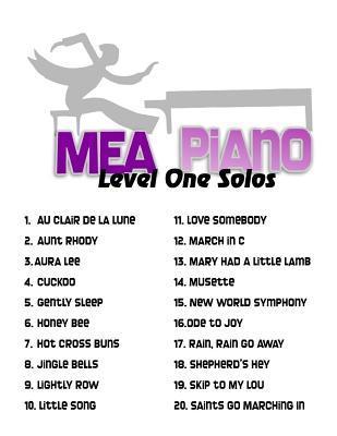 Mea Piano Solos, Level 1