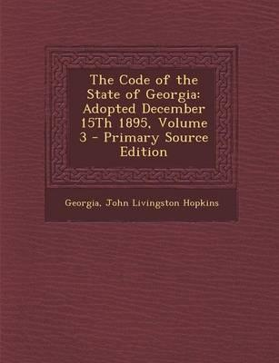 The Code of the State of Georgia