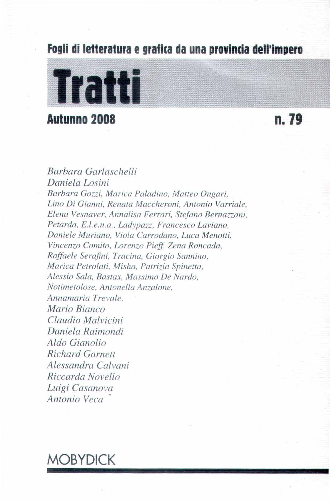 Tratti n. 79 - Autunno 2008