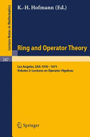 Lectures on operator algebras