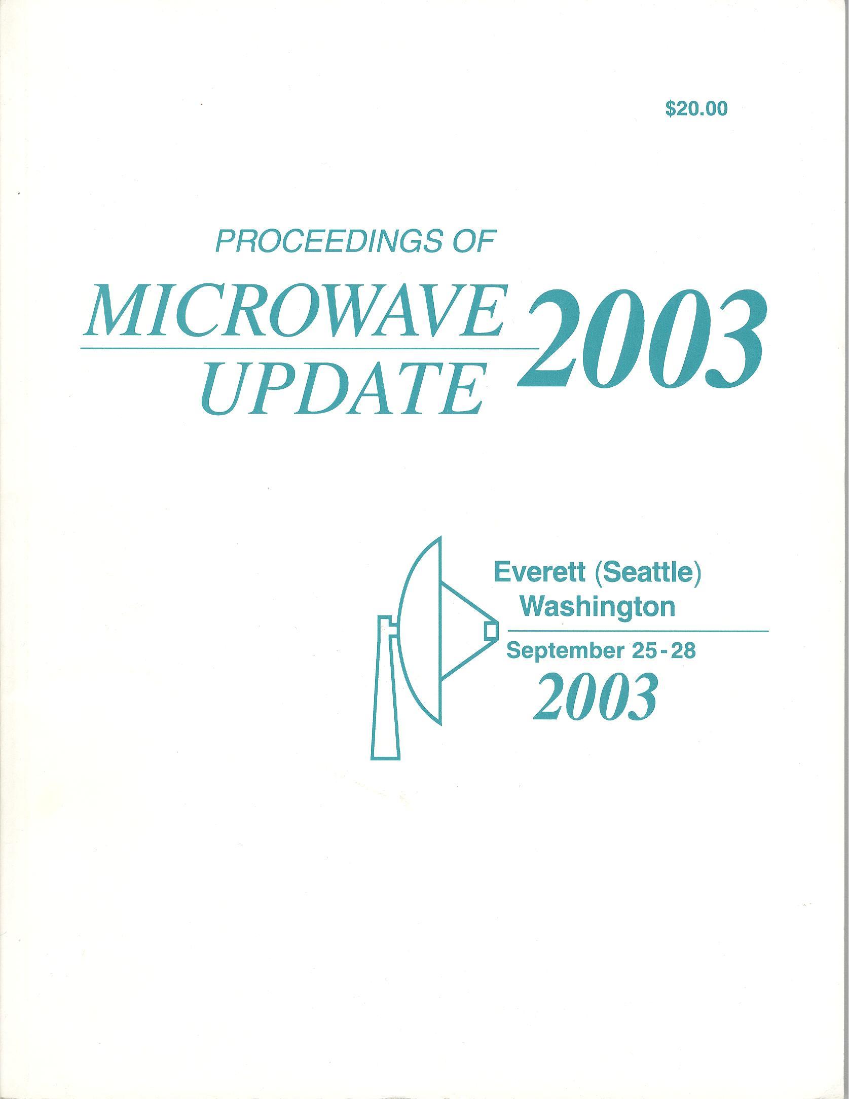 Proceedings of Microwave Update 2003