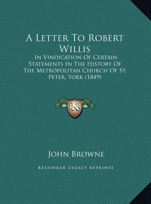 A Letter to Robert W...