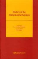 History of the mathematical sciences