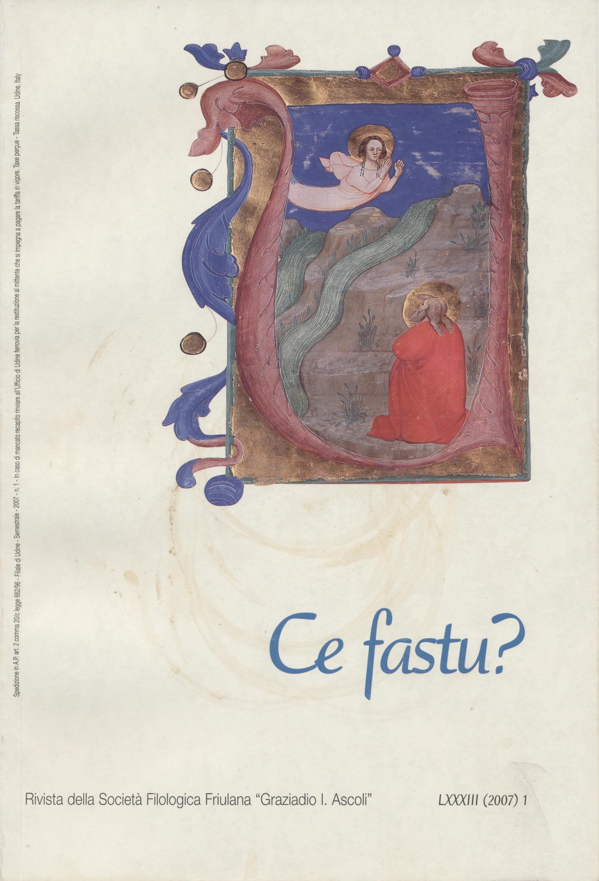 Ce fastu? Anno LXXXIII n.1 (2007)