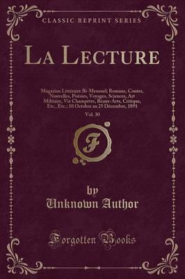 La Lecture, Vol. 30