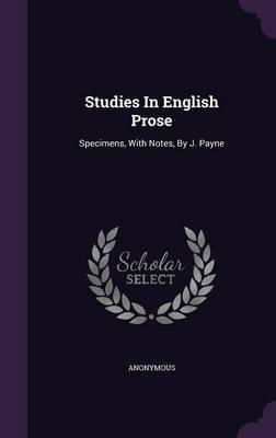 Studies in English Prose