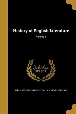HIST OF ENGLISH LITERATURE V01