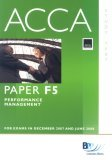 ACCA (New Syllabus) - F5 Performance Management