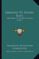 Sermons to Young Boys