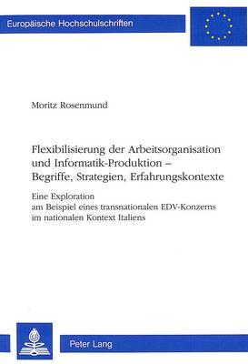 Flexibilisierung der Arbeitsorganisation und Informatik-Produktion -- Begriffe, Strategien, Erfahrungskontexte