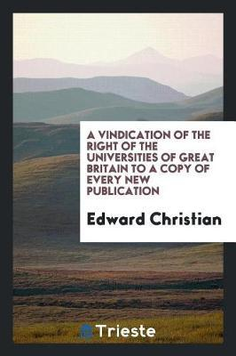 A Vindication of the...
