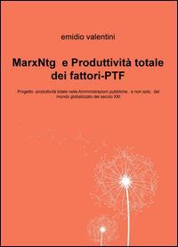 MarxNtg e produttività totale dei fattori-PTF. Progetto produttività totale nelle amministrazioni pubbliche, e non solo, del mondo globalizzato del secolo XXI