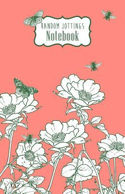 Wild Roses Design in Coral Pink Random Jottings Notebook