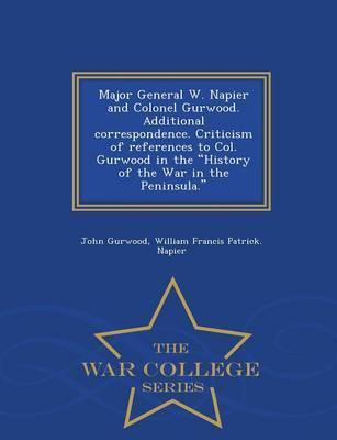 Major General W. Nap...
