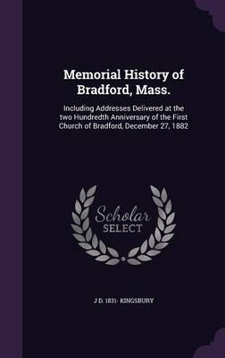 Memorial History of Bradford, Mass.