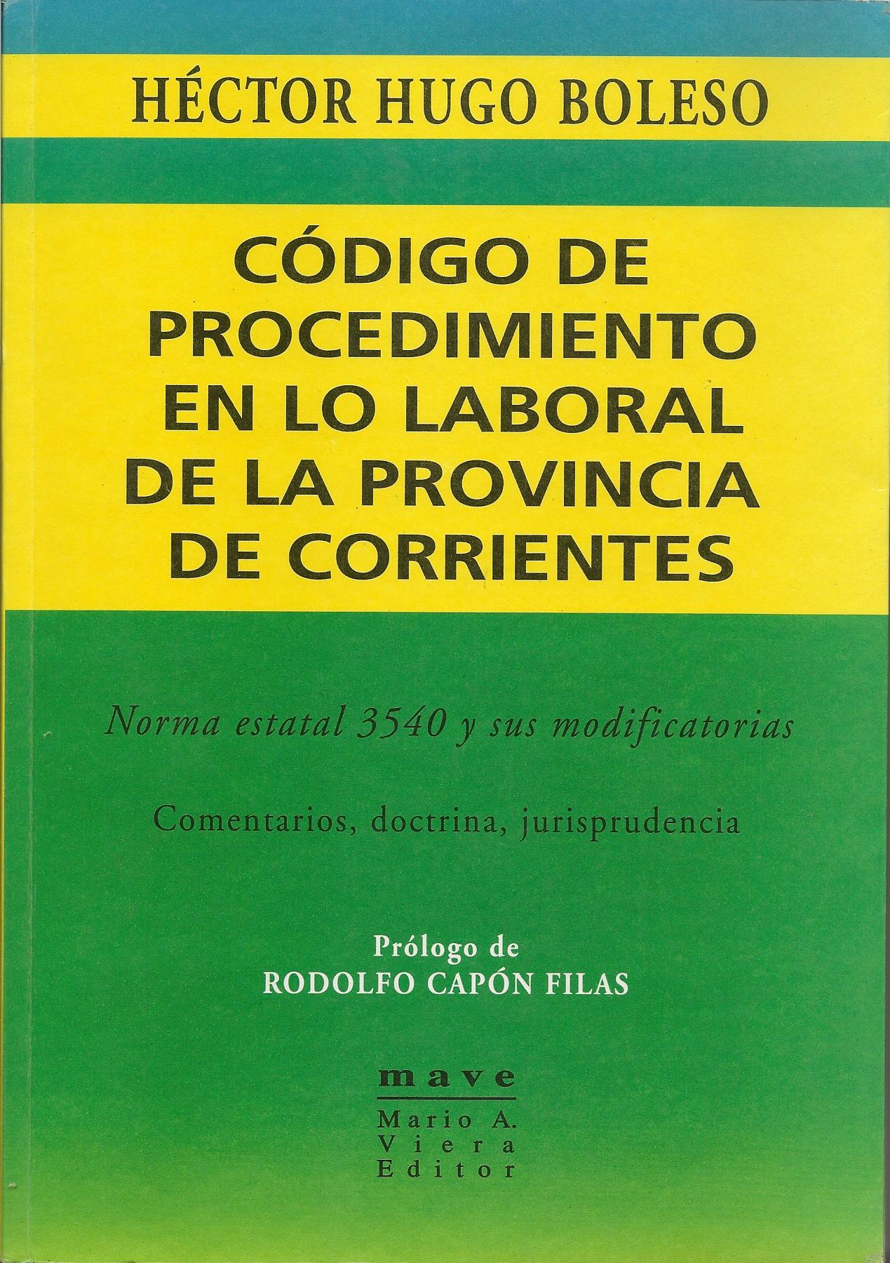 Código de Procedimiento en lo Laboral de la Provincia de Corrientes
