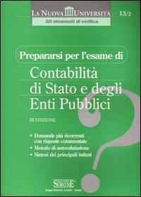 Prepararsi per l'esame di contabilità di Stato e degli enti pubblici