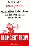Lettre ouverte à Maximilien Robespierre sur les nouveaux muscadins