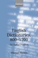 English Dictionaries, 800-1700