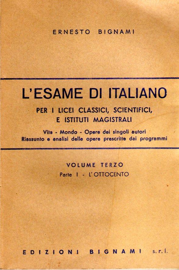 L'esame di Italiano. Vol. III - parte I