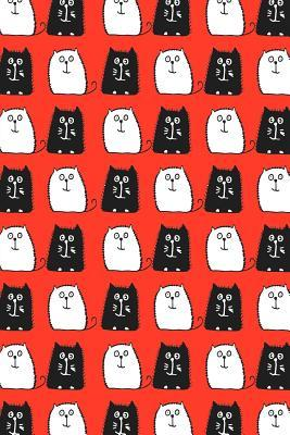 Bullet Journal Notebook For Cat Lovers Black and White Cats in a Row 3