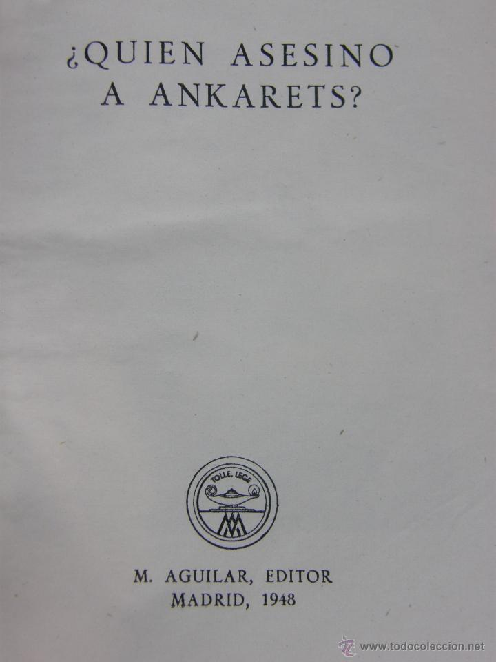 ¿Quién asesinó a Ankarets?